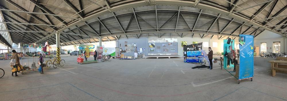 Ausstellungsfläche der Shedhallen